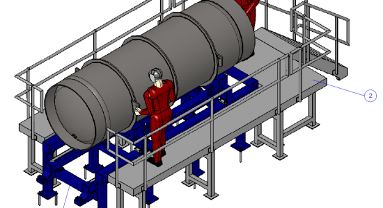 Example of FEM simulation for industry: Storing frame for highly corrosive materials